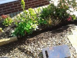 cheap garden edging. Cheap Attractive Garden Border Edging, Concrete Masonry, Diy, Gardening, Landscape, Before Edging