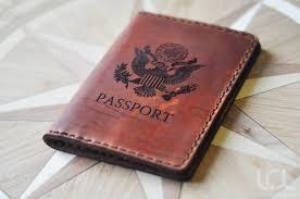 laser engraved custom passport wallet