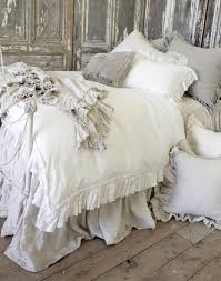 vintage ruffle duvet cover from full bloom cottage luxus vuodevaatteet