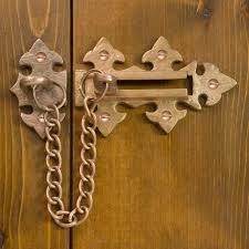 Door Lock Chain Solid Bronze Decorative Chain Lock Living Bronze Hardware