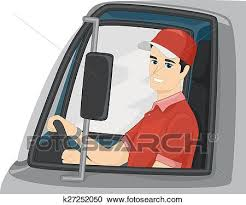 Clipart Of Man Delivery Truck Driver K27252050 Search Clip Art