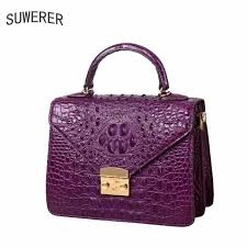 <b>SUWERER 2019 New</b> Women Genuine <b>Leather</b> bags fashion luxury ...
