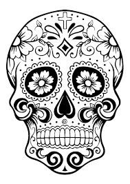 Various objects are associated with this holiday, and are present in our día de los muertos drawings. El Dia De Los Muertos Day Of The Dead Coloring Page Skull 2 Image With Skull From The Gallery Skull Coloring Pages Coloring Pictures Coloring Pages