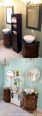 Sherwin-Williams Watery Bathroom Makeover - Home Stories A to Z