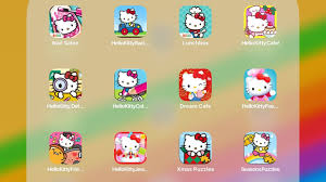 Coloring pages of santa claus and hello kittyb9d9. Nail Salon Hello Kitty Racing Lunchbox Kitty Cafe Detective Coloring Dream Cafe Food Town Friends Youtube