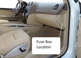 fuses w164 m class 2006 2011benz box location fuse chart fuse box passenger side of dash