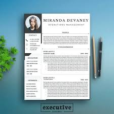 Modern Cv Word Modern Resume Template Pretty Initials Design On This Professional