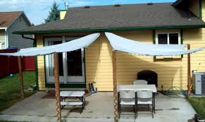 wood patio covers. Audacious Awning Ideas Roof Furniture Diy Easy Patio Cover Shade Recycled Wood Frame White Cotton Fabric Material Vinyl Covers