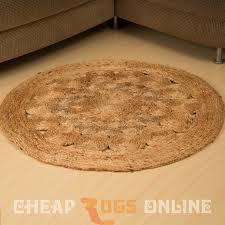 adorn 90cm round jute rug
