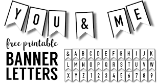 Letter For Banner Banner Templates Free Printable Abc Letters Paper Trail Design