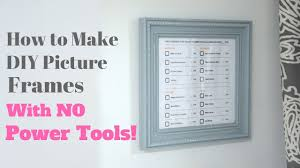 how to make diy picture frames with no
