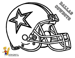 Coloring Pages Football Cowboys Football Coloring Page Clipart