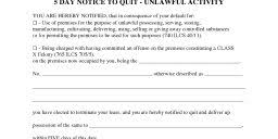 5 day eviction notice illinois form free eviction notice form pdf word do it yourself forms