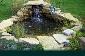 Pond Edges Design Small Backyard Koi Pond Design With Stone Border And