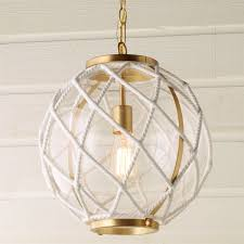 Nautical Globe Pendant Light White Rope Globe Pendant Shades Of Light
