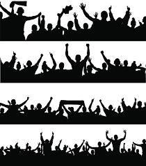 sports crowd clipart. banners for sports and concerts vector art illustration crowd clipart f