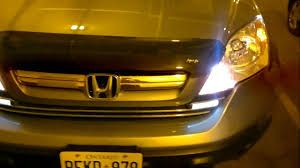 Drl Light Honda Crv 2008 Honda Cr V Custumized Light Youtube