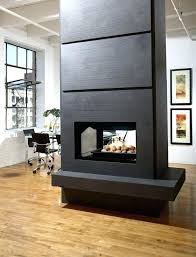 direct vent fireplace double sided installing gas interior wall