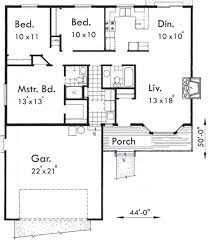 small 3 bedroom house plans with single