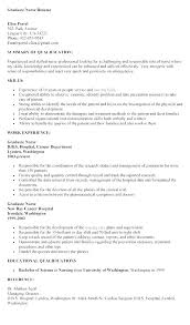 Resume Pro New Nurse Grad Resume Nursing New Grad Cover Letter Nurse Sample