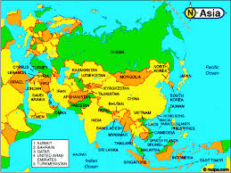 asia map with country names and capitals Map Of Asia Atlas crain\'s personal pages world atlas asia and middle east map of asia to label
