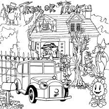 Small Picture Halloween Haunted House Coloring Pages GetColoringPagescom