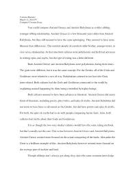 Example Of A Comparison Contrast Essay Essay Examples Sample Paper