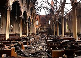 Image result for fallen church