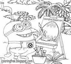 easter clipart to color.  Color Happy Easter Clipart Simple Printable Minion Coloring Pages Egg Drawing For  Young People To Color Intended Clipart To Color