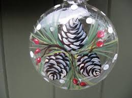 Hand painted glass ornament with berries and by ArtisanColorado, $25.00.  Hand Painted OrnamentsPainted Christmas ...