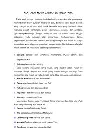 Musik tradisional indonesia juga mengenal sajian dalam kelompok kecil seperti. Alat Musik Daerah Se Nusantara