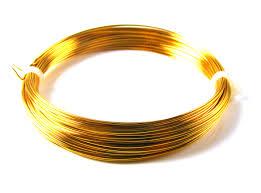 0 8mm gilt wire