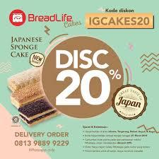 Breadlife 20 Off Japanese Sponge Cake