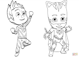Coloring Pages Pajama Hero Connor Is Catboy From Pj Masks Coloring