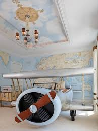 airplane bedroom themes. Delighful Themes Airplane Bedroom Ideas   Airplanethemed Kidsu0027 Bedroom An Bed  Is The Centerpiece Of On Airplane Bedroom Themes R