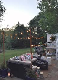 lowe s spring makeover reveal diy lights at night