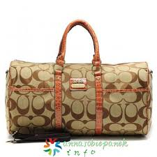In Coach Bleecker Monogram Signature Large Khaki Luggage Bags