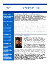Newsletter Templates Pages Business Newsletter 2 Pages
