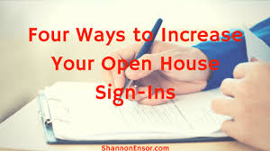 Open House Sign In Four Ways To Increase Your Open House Sign Ins