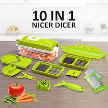 fgt 10 in 1 nicer dicer plus multi chopper vegetable cutter fruit