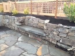 img 0495 pennsylvania bluestone bench in retaining wall