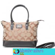 Coach Logo Monogram Medium Khaki Totes In
