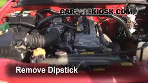 oil filter change chevrolet tracker 1999 2004 2000 chevrolet 12 remove dipstick locate remove and wipe oil dipstick