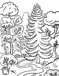 Small Picture Free Forest Coloring Page