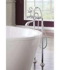 floor mount tub filler. Weymouth Two Handle Floor Mount Tub Filler Trim With Hand Shower C