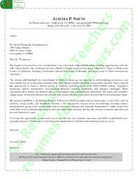 Date On Cover Letters Special Education Teacher Cover Letter Sample