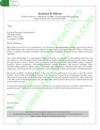 Teacher Cover Letter Example Special Education Teacher Cover Letter Sample
