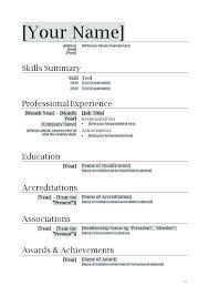 Basic Resume Form Simple Job Resume Format Krismoran Us