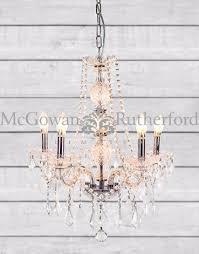 cau 5 branch glass arm chandelier