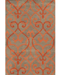 gray and orange area rug inviting awesome wuqiangco in pertaining to 8